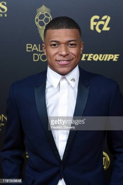 Kylian Mbappe attends the photocall before the Ballon D'Or Ceremony at Theatre Du Chatelet on December 02 2019 in Paris France