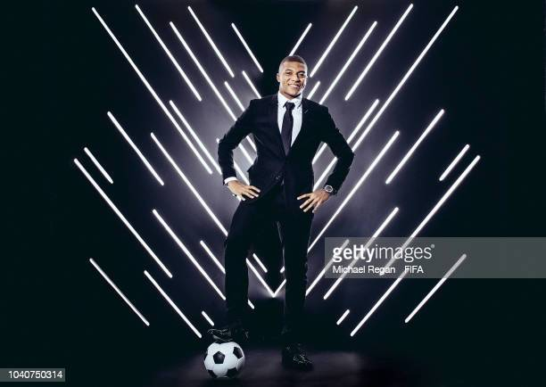 Kylian Mbappe is pictured inside the photo booth prior to The Best FIFA Football Awards at Royal Festival Hall on September 24 2018 in London England