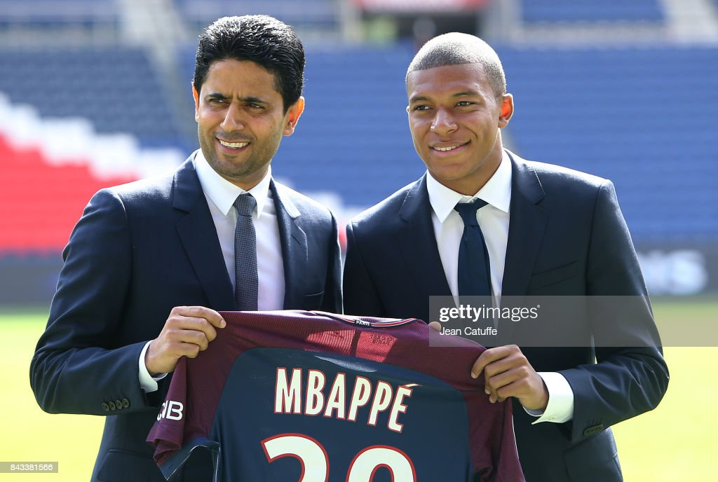 Paris Saint Germain Unveiling New Signing Kylian Mbappe : News Photo