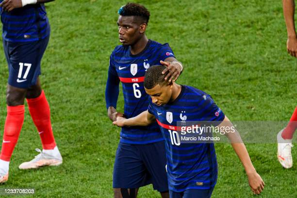 Kylian Mbappe of France after missing a penalty shot during the UEFA Euro 2020 Championship Round of 16 match between France and Switzerland at...