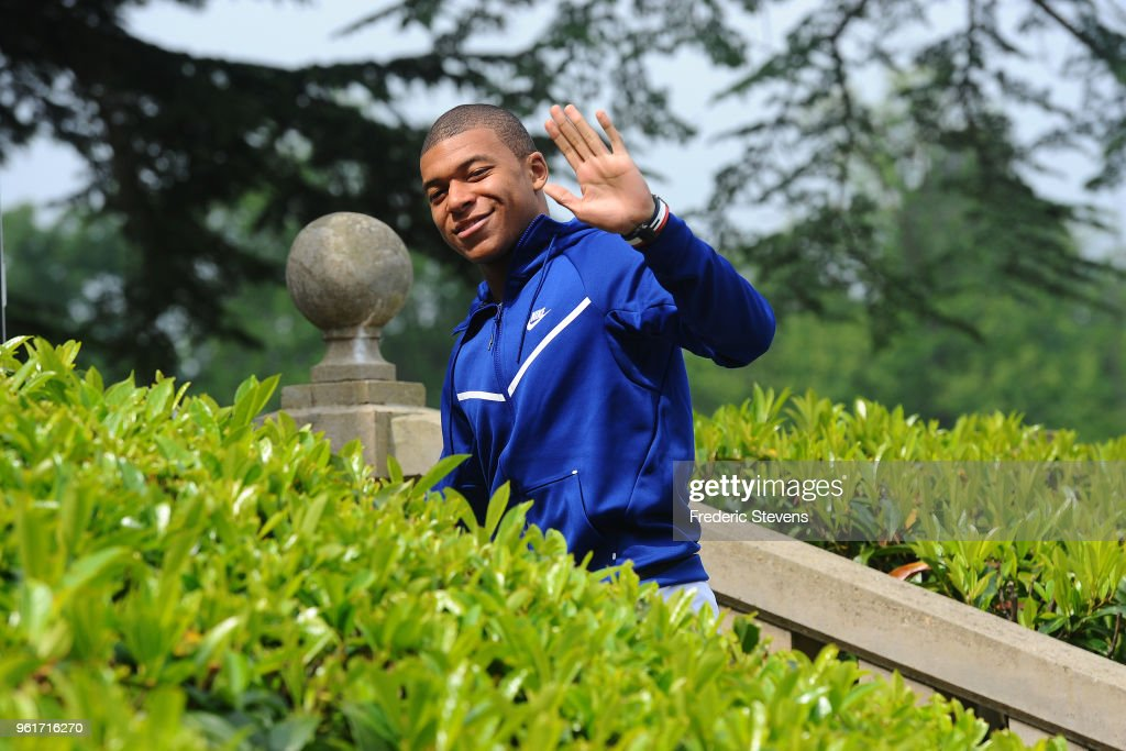 French National Players Arrive At National Training Center In Clairefontaine
