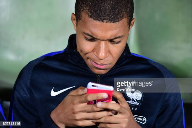Kylian Mbappe of France before the FIFA World Cup 2018 qualifying match between Luxembourg and France on March 25 2017 in Luxembourg Luxembourg