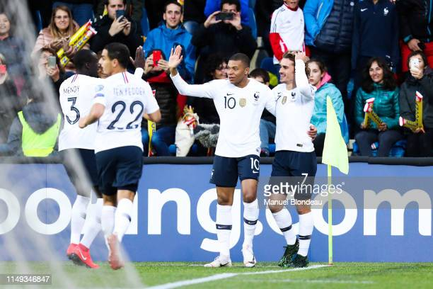 Kylian Mbappe of France celebrate his goal with Antoine Griezmann during the Qualifying European Championship 2020 match between Andorra and France...