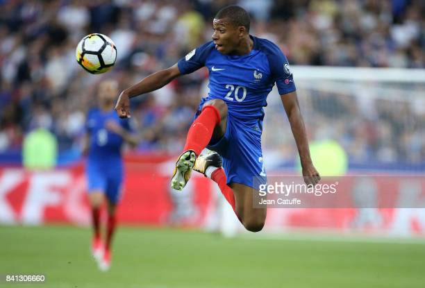 Kylian Mbappe of France during the FIFA 2018 World Cup Qualifier between France and the Netherlands at Stade de France on August 31 2017 in...