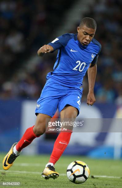 Kylian Mbappe of France during the FIFA 2018 World Cup Qualifier between France and Luxembourg at the Stadium on September 3 2017 in Toulouse France