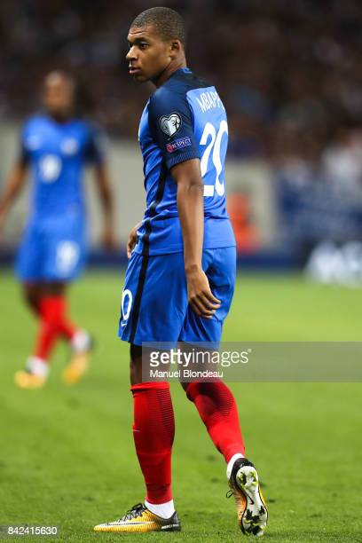 Kylian Mbappe of France during the Fifa 2018 World Cup qualifying match between France and Luxembourg at on September 3 2017 in Toulouse France