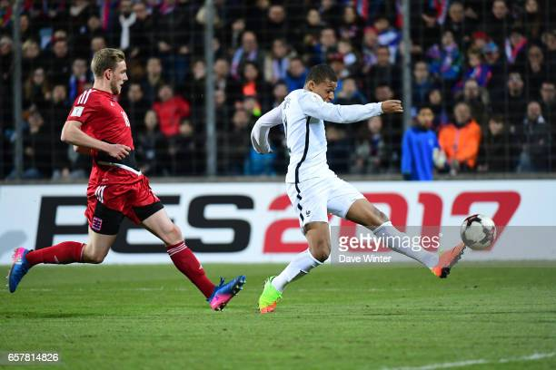 Kylian Mbappe of France during the FIFA World Cup 2018 qualifying match between Luxembourg and France on March 25, 2017 in Luxembourg, Luxembourg.