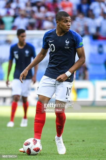Kylian Mbappe of France during the FIFA World Cup Round of 16 match between France and Argentina at Kazan Arena on June 30 2018 in Kazan Russia
