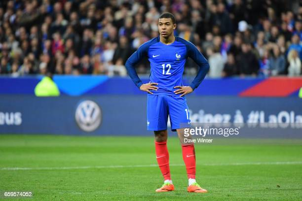Kylian Mbappe of France during the friendly match between France and Spain at Stade de France on March 28 2017 in Paris France