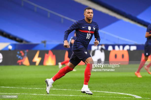 Kylian MBAPPE of France during the international friendly match between France and Ukraine on October 7, 2020 in Paris, France.