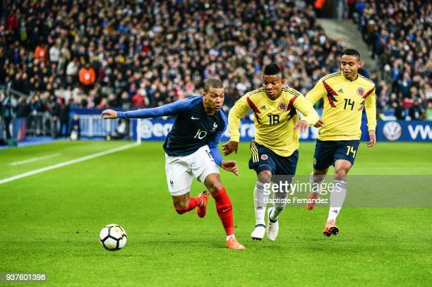 Kylian Mbappe of France during the International friendly match between France and Colombia on March 23 2018 in Paris France