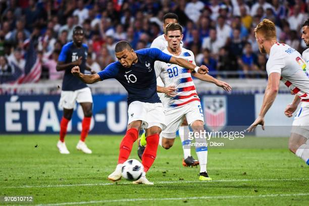 Kylian Mbappe of France during the International Friendly match between France and United States at Groupama Stadium on June 9 2018 in Lyon France