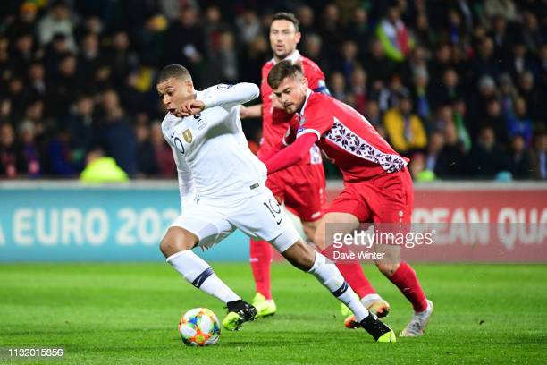 Kylian Mbappe of France during the Qualifying European Championship match between Moldova and France at Zimbru Stadium on March 22 2019 in Chisinau...