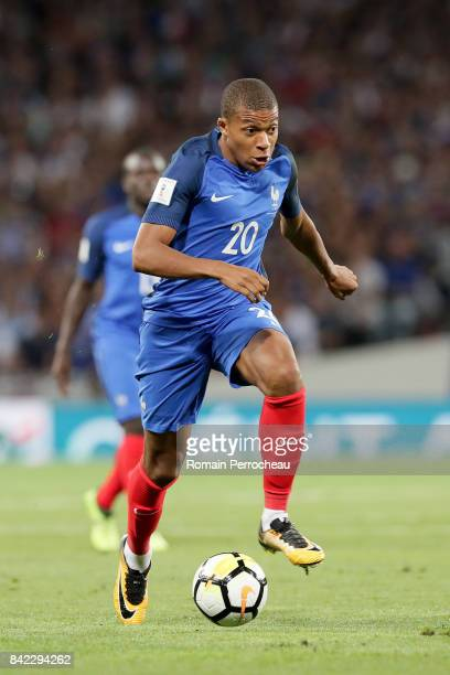 Kylian Mbappe of France in action during the FIFA 2018 World Cup Qualifier between France and Luxembourg at on September 3 2017 in Toulouse France