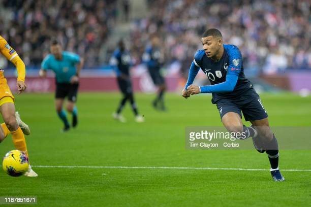 Kylian Mbappe of France in action during the France V Moldova 2020 European Championship qualifying group H match at Stade de France on November 14th...