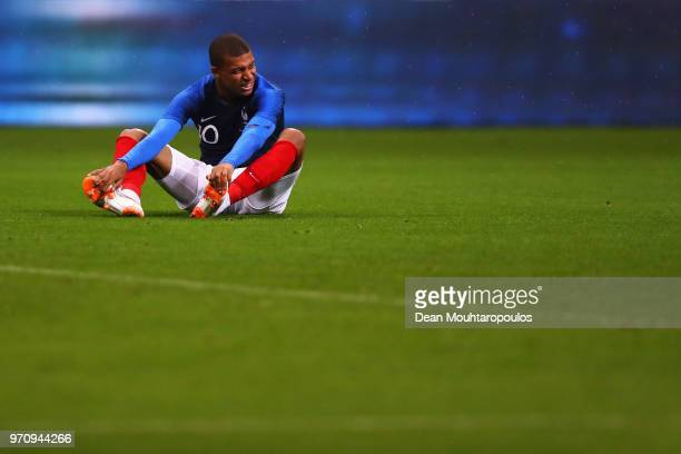 Kylian Mbappe of France in action during the International Friendly match between France and Ireland at Stade de France on May 28 2018 in Paris France