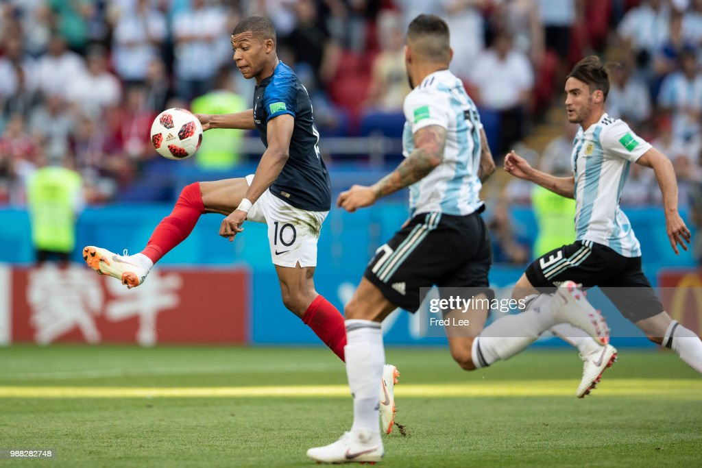 1st Group C v 2nd Group D: Round of 16 - 2018 FIFA World Cup Russia : News Photo
