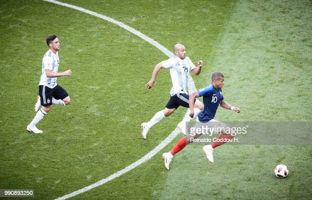 Kylian Mbappe of France is seen during the 2018 FIFA World Cup Russia Round of 16 match between France and Argentina at Kazan Arena on June 30 2018...