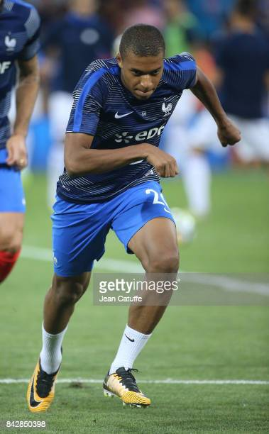 Kylian Mbappe of France warms up before the FIFA 2018 World Cup Qualifier between France and Luxembourg at the Stadium on September 3 2017 in...