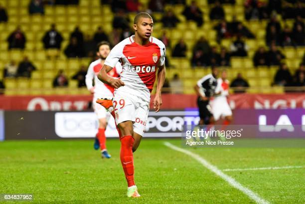 Kylian Mbappe of Monaco during the Ligue 1 match between As Monaco and Fc Metz at Louis II Stadium on February 11 2017 in Monaco Monaco