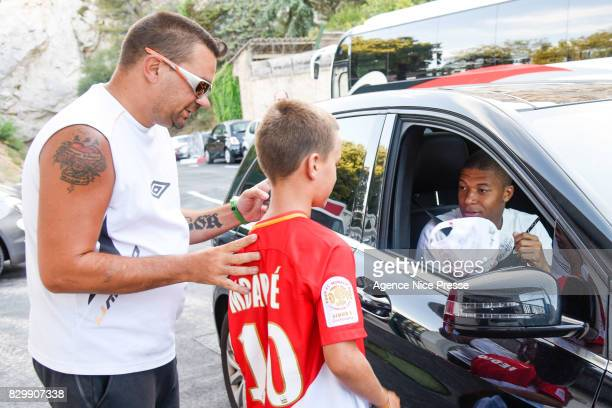 Kylian Mbappe of Monaco during training session of As Monaco on August 11 2017 in Monaco Monaco