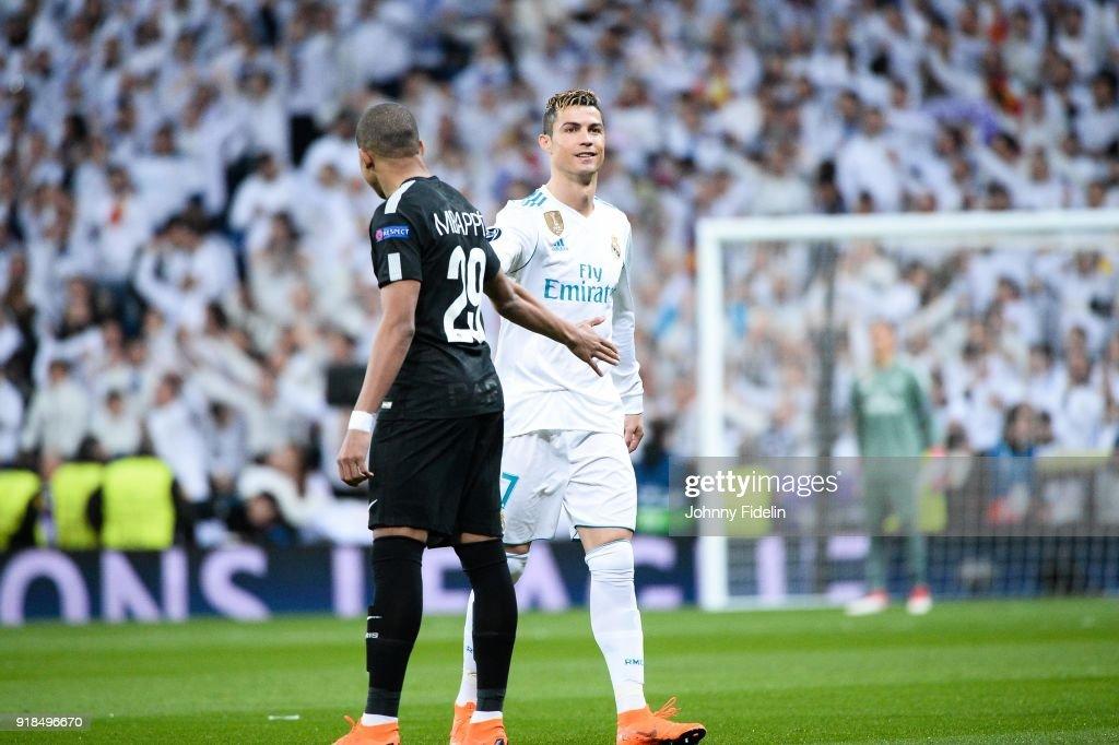 Kylian Mbappe Of Paris Saint Germain And Cristiano Ronaldo