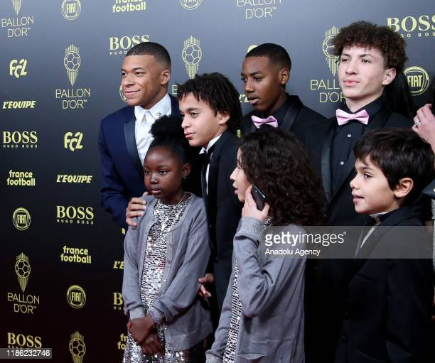 Kylian Mbappe of Paris Saint Germain arrives to attends for the Ballon d'Or ceremony at Theatre du Chatelet in Paris on December 02 2019