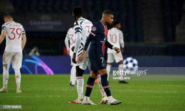 OCTOBER Kylian Mbappe of Paris SaintGermain is dissapointed after the UEFA Champions League Group H stage match between Paris SaintGermain and...