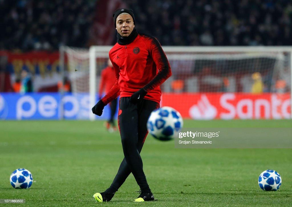 SRB: Red Star Belgrade v Paris Saint-Germain - UEFA Champions League Group C