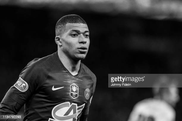 Kylian Mbappe of PSG during the French Cup match between Paris Saint Germain and Nantes at Parc des Princes on April 3 2019 in Paris France