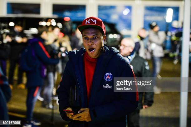 Kylian Mbappe of PSG during the french League Cup match Round of 16 between Strasbourg and Paris Saint Germain on December 13 2017 in Strasbourg...