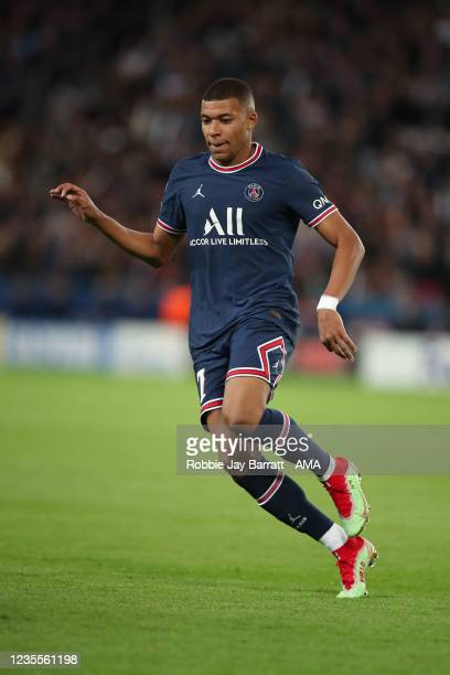 Kylian Mbappe of PSG during the UEFA Champions League group A match between Paris Saint-Germain and Manchester City at Parc des Princes on September...