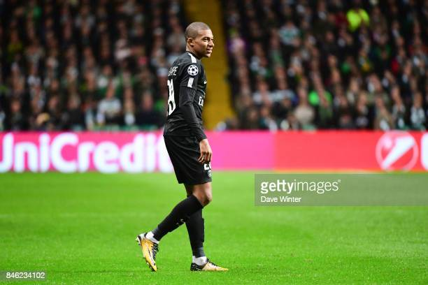 Kylian Mbappe of PSG during the Uefa Champions League match between Glasgow Celtic and Paris Saint Germain at Celtic Park Stadium on September 12,...