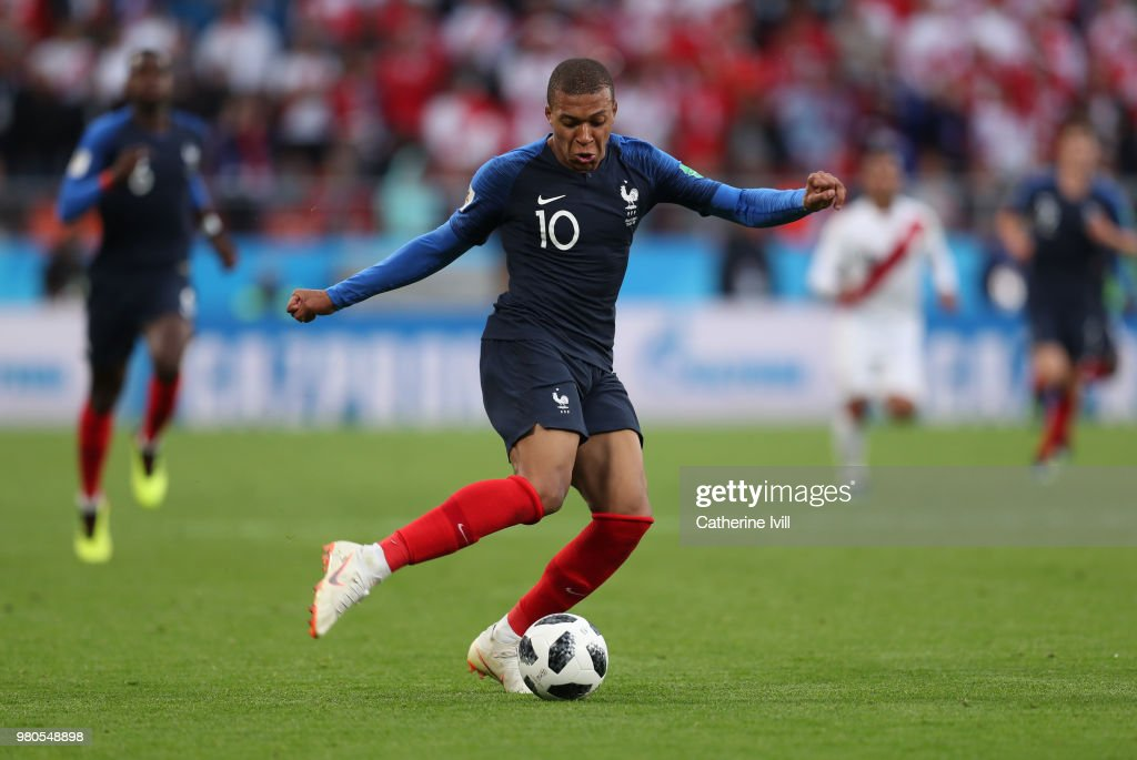 cc8a466a2 Kylian Mpabbe of France during the 2018 FIFA World Cup Russia group ...