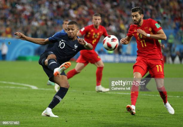 Kylian Mpabbe of France during the 2018 FIFA World Cup Russia Semi Final match between Belgium and France at Saint Petersburg Stadium on July 10 2018...