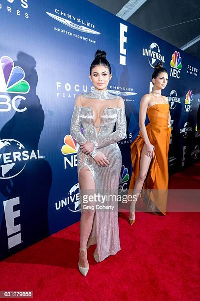 Kylie and Kendall Jenner arrive at the NBCUniversal's 74th Annual Golden Globes After Party at The Beverly Hilton Hotel on January 8 2017 in Beverly...