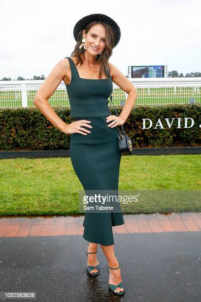 Kylie Brown attends 2018 Caulfield Cup Day at Caulfield Racecourse on October 20 2018 in Melbourne Australia