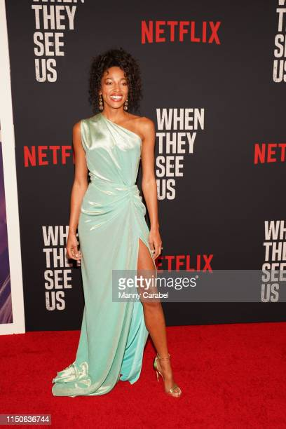 "Kylie Bunbury attends the World Premiere of ""When They See Us"" at The Apollo Theater on May 20, 2019 in New York City."