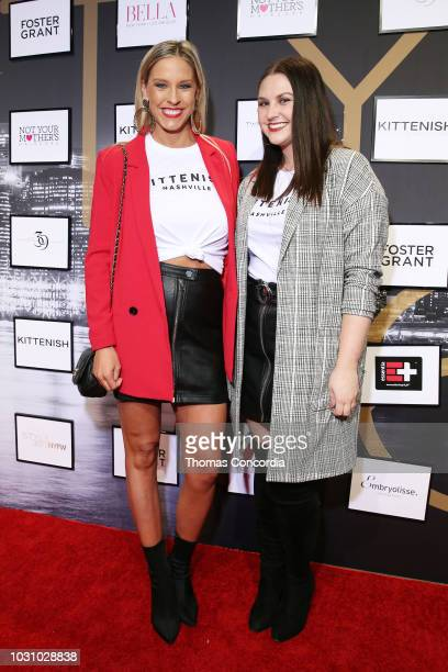 Kylie Callender and Becca O'Connor attend as STYLE360 hosts Kittenish by Jessie James Decker on September 10 2018 in New York City
