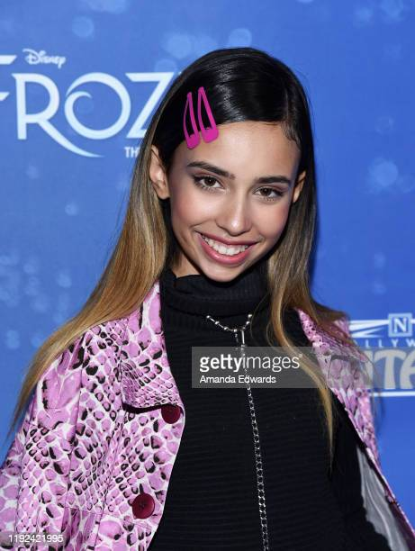 Kylie Cantrall arrives at the LA Premiere Of Frozen at the Hollywood Pantages Theatre on December 06 2019 in Hollywood California