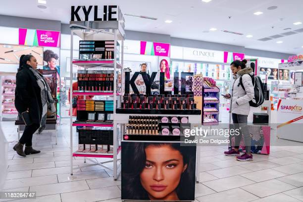 Kylie Cosmetics are displayed at Ulta beauty on November 18 2019 in New York City Kylie Cosmetics has sold a controlling stake to Coty Inc for a...