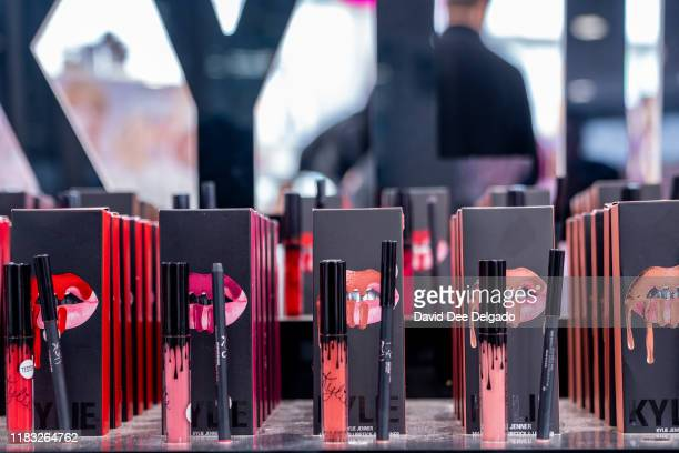 Kylie Cosmetics are displayed at Ulta beauty on November 18, 2019 in New York City. Kylie Cosmetics has sold a controlling stake to Coty Inc for a...