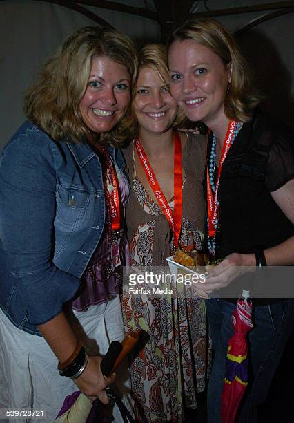 Kylie Edwards Annabelle Lloyd and Alison Avery at the film premiere of The Producers at the St George OpenAir Cinema 5 January 2006 SHD NEWS Picture...