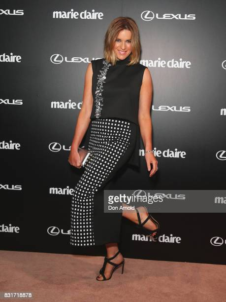 Kylie Gillies arrives ahead of the 2017 Prix de Marie Claire Awards on August 15 2017 in Sydney Australia