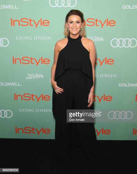 Kylie Gillies arrives ahead of the Women of Style Awards at Museum of Contemporary Art on May 9 2018 in Sydney Australia