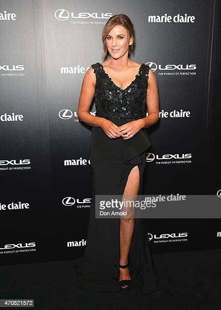 Kylie Gillies arrives at the 2015 Prix de Marie Claire Awards at Fox Studios on April 21 2015 in Sydney Australia