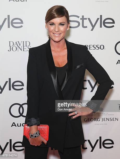 Kylie Gillies arrives at the 2015 Women of Style Awards at Carriageworks on May 13 2015 in Sydney Australia