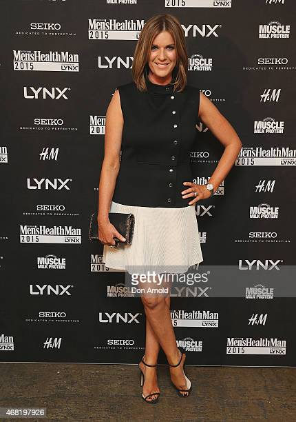 Kylie Gillies arrives at the Men's Health MAN Gala event at Simmer on the Bay on March 31 2015 in Sydney Australia