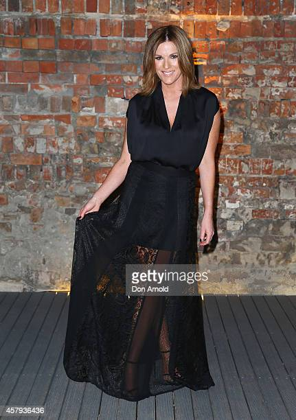 Kylie Gillies arrives at the Neiman Marcus dinner at The Mint on October 27 2014 in Sydney Australia