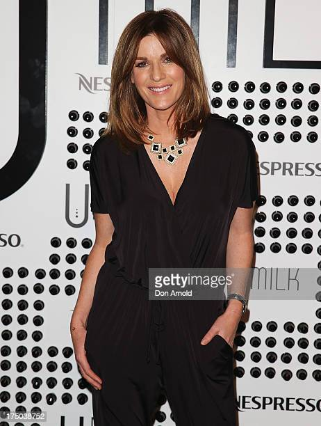 Kylie Gillies arrives at the Nespresso Umilk machine launch on July 30 2013 in Sydney Australia